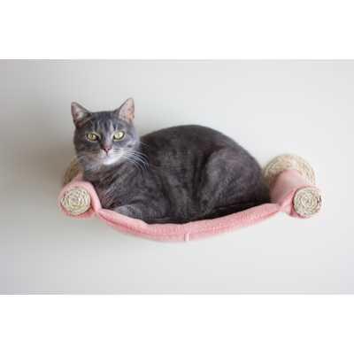 Cat Hammock - Wall Mounted Cat Bed - Salmon Image