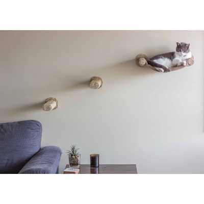 Cat Hammock - Wall Mounted Cat Bed - with 2 Sisal Steps Image