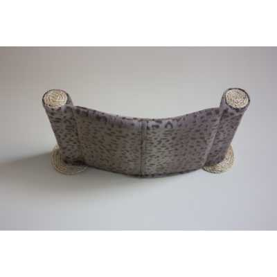 Cat Hammock - Wall Mounted Cat Bed - Grey Leopard