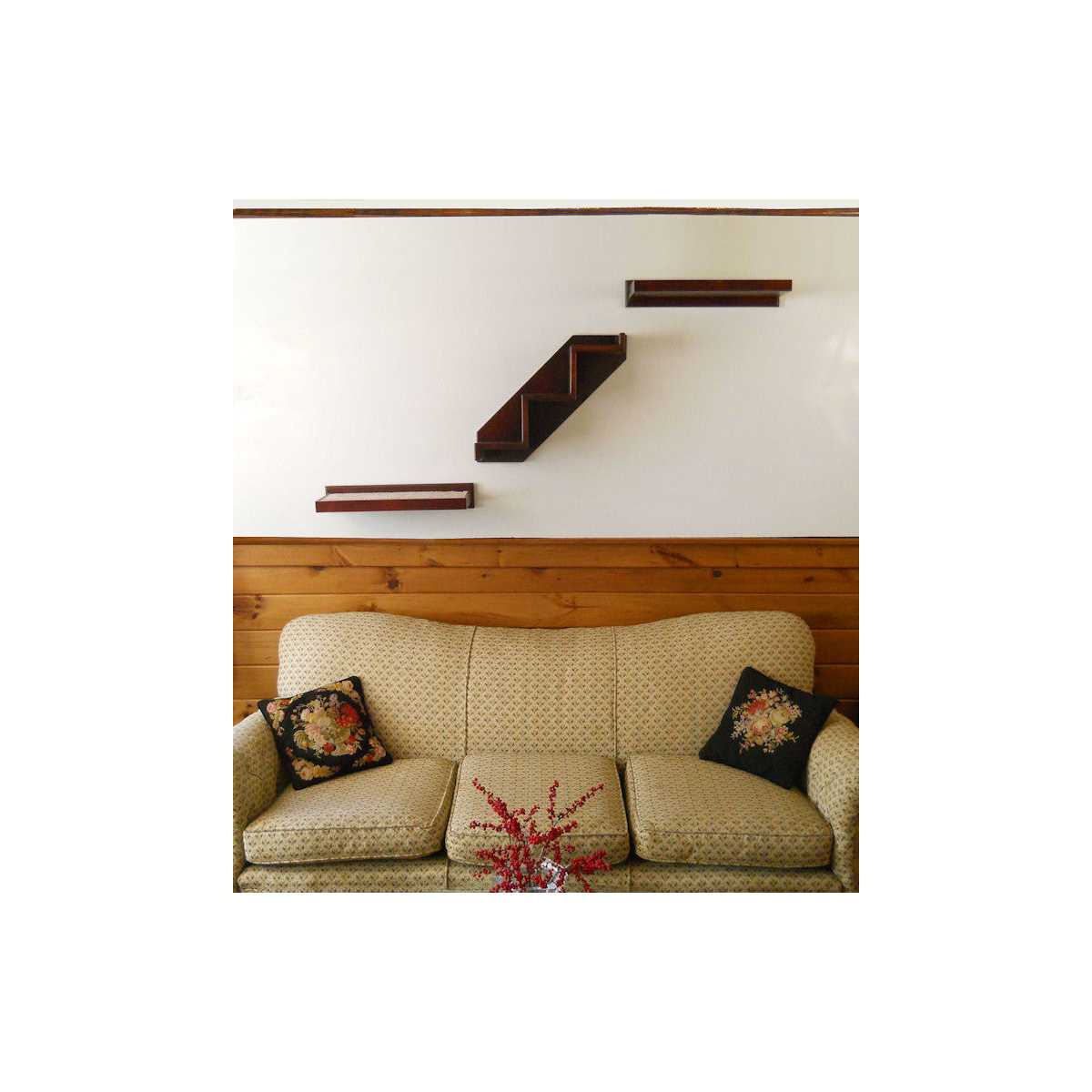 Solid Wood Cat Wall Climbing Stairs Catsplay Superstore