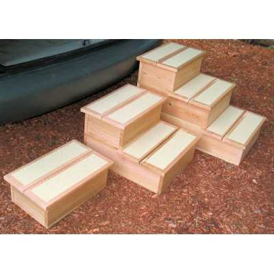 Cedar Pet Steps 1, 2 or 3 Step Height
