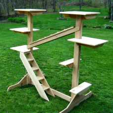 Outdoor Or Indoor Cedar Cat Gym