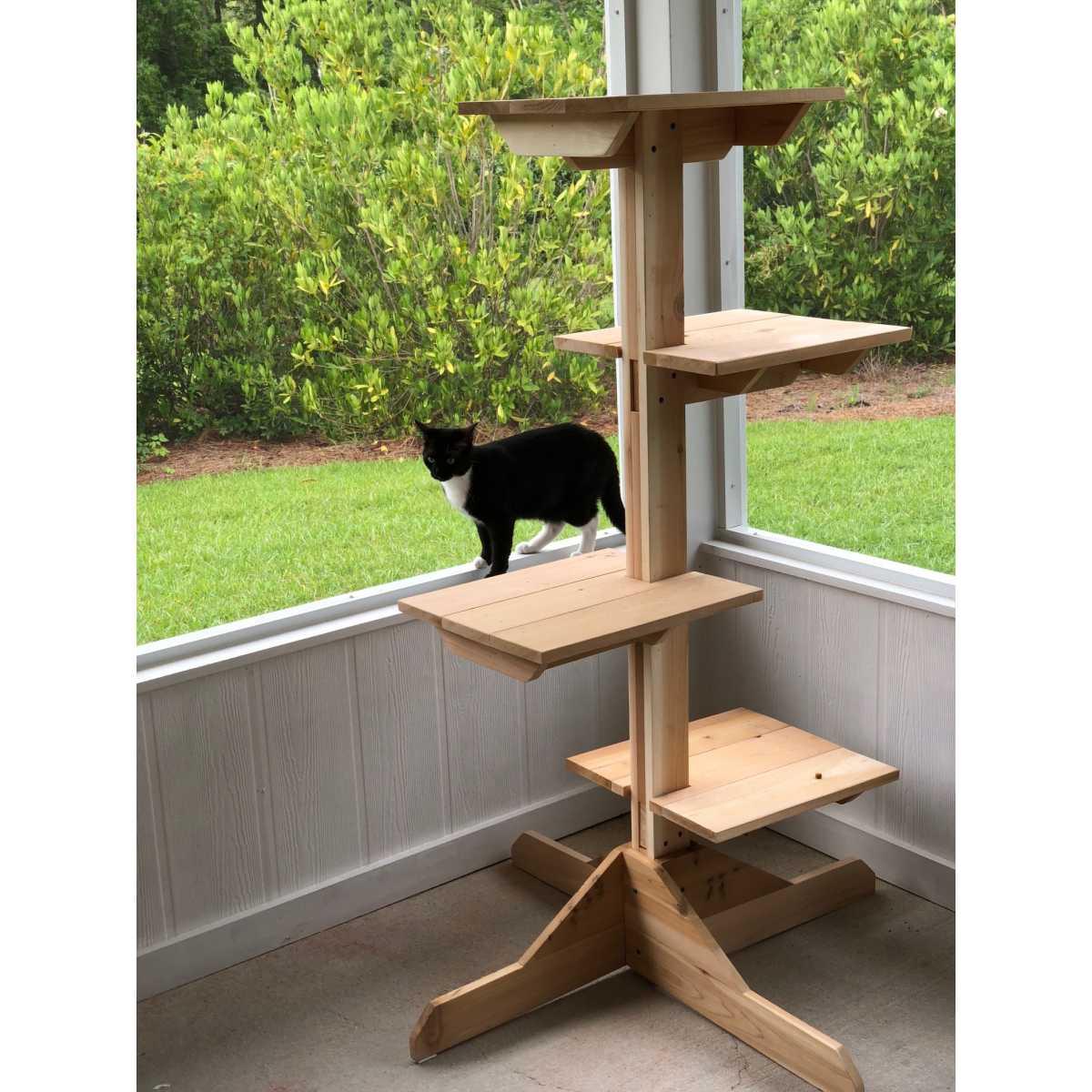 Outdoor Or Indoor Cedar Cat Tree Catsplay Superstore