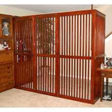 Solid Hardwood Indoor Pet Enclosure