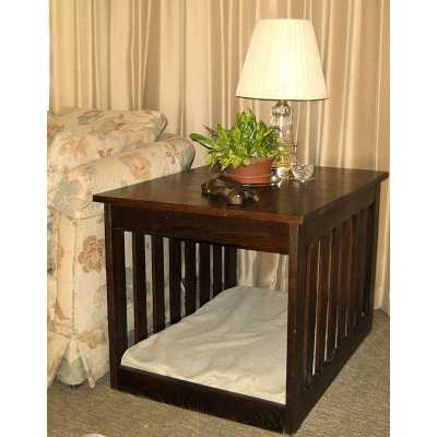 Solid Hardwood Pet Bed End Table