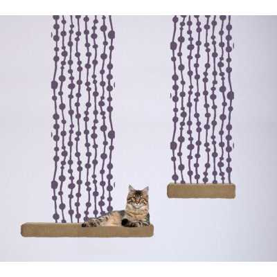 Cat Themed Wall Accent Decal - Lines & Dots Accent Runner