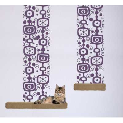 Cat Themed Wall Accent Decal - Retro Accent Runner