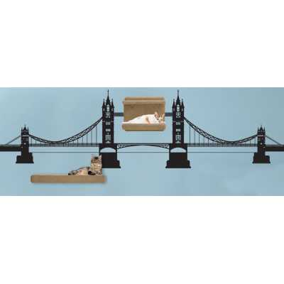 Cat Themed Wall Accent Decal - Tower Bridge