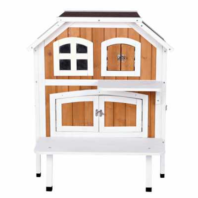 Cat's Cozy Cottage Two Story Wooden House