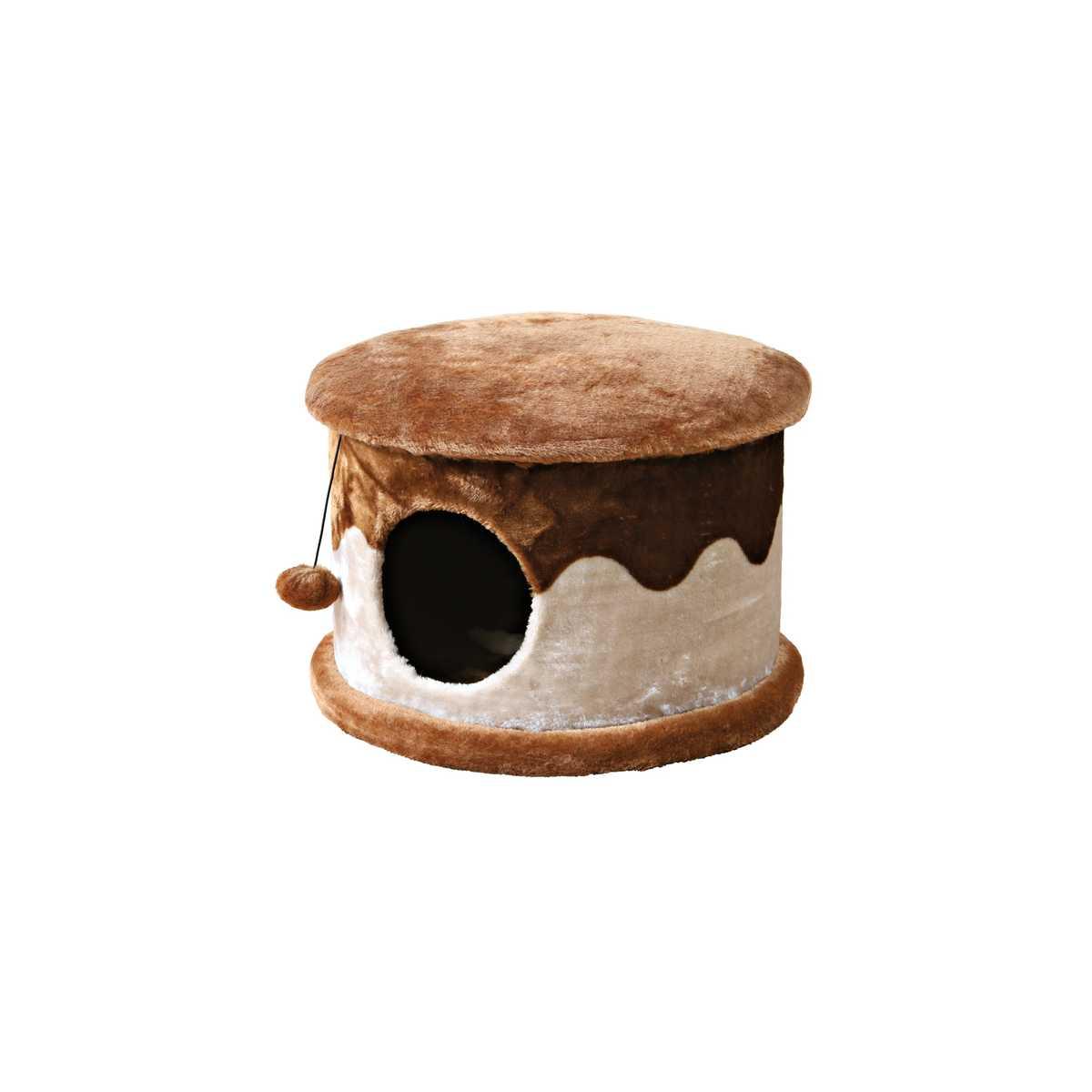 Cozified Beige-Brown Cat Condo
