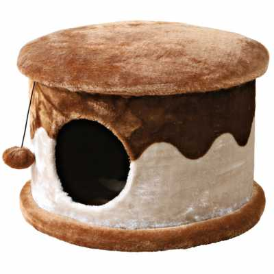 Cozified Beige-Brown Cat Condo