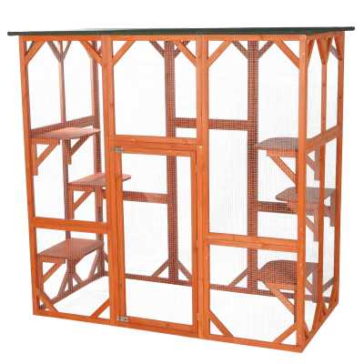 Wooden Outdoor Cattery