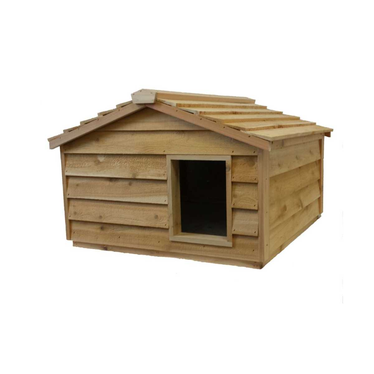 Extra Large Cedar Insulated Cat Or