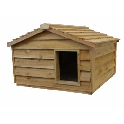 Extra Large Cedar Insulated Cat or Small Dog House