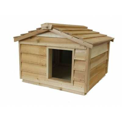 Large Cedar Insulated Cat or Small Dog House