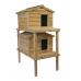 Large Cedar Insulated Double Decker Cat House