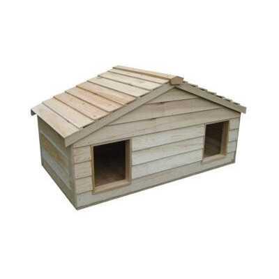 Large Duplex Cedar Insulated Double Decker Cat House