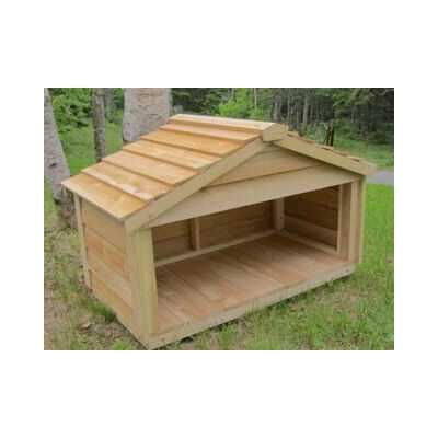 Outdoor Cedar Cat or Dog Feeding Station Image