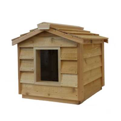 Small Cedar Insulated Cat or Small Dog House