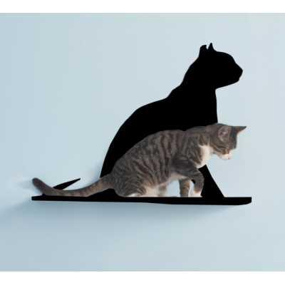 Cat Silhouette Cat Shelf - Gaze Image