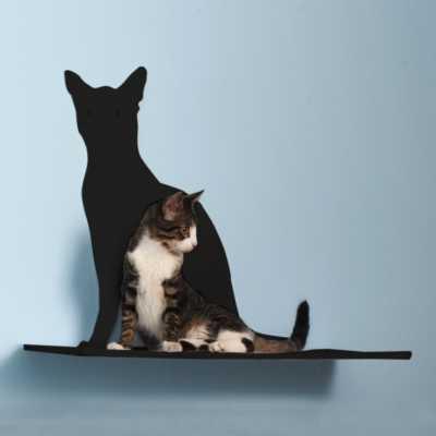 Cat Silhouette Cat Shelf - Perch Image