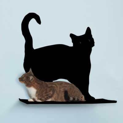 Cat Silhouette Cat Shelf - Prance Image