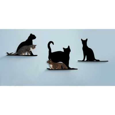 Cat Silhouette Cat Shelf - Set of 3 Image