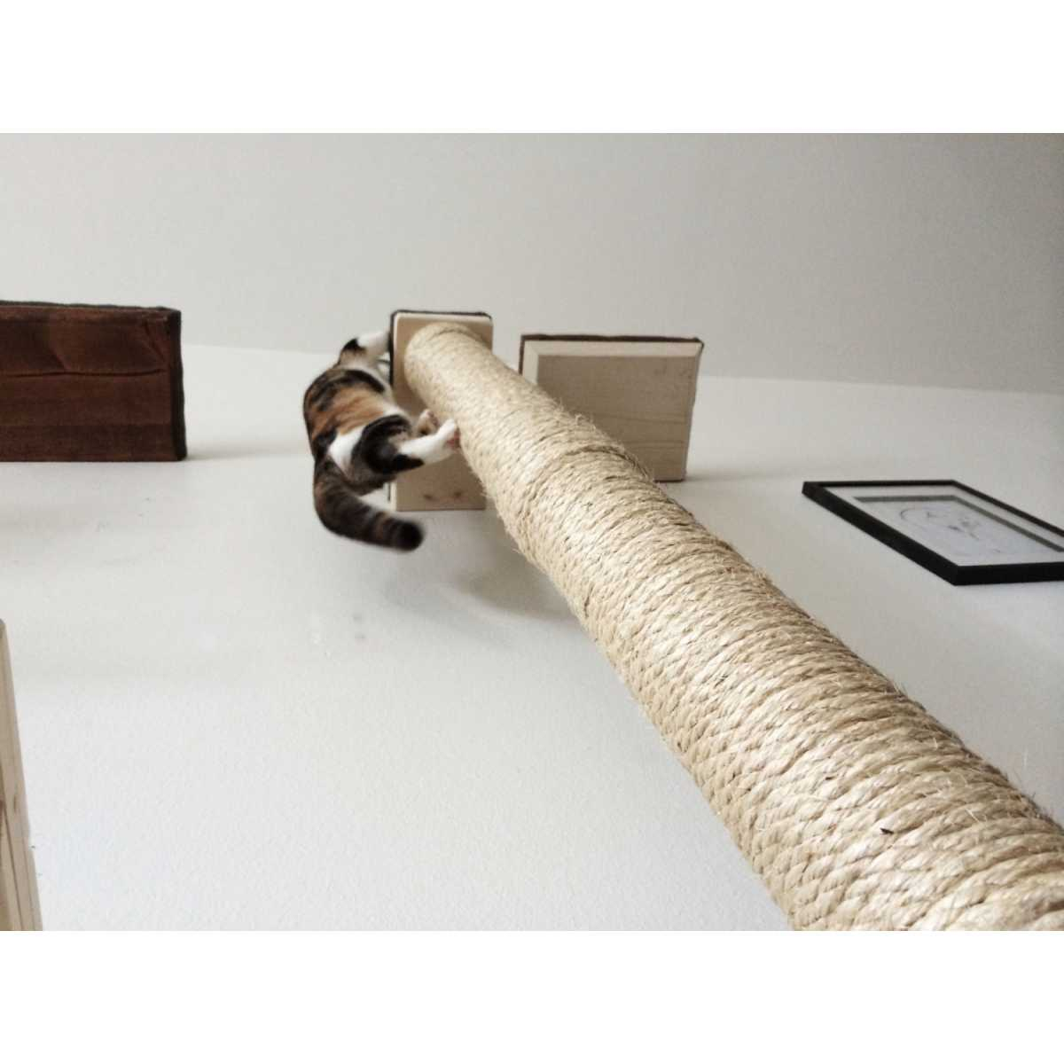 Catastrophicreations Vertical Wall Mounted Sisal Cat Pole