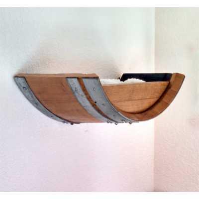 Wine Barrel Cat Wall Bed