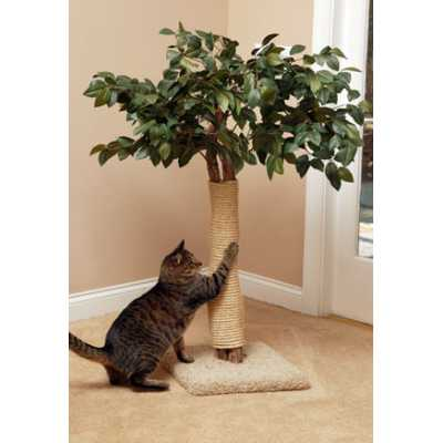 Lifelike Cat Scratching Tree