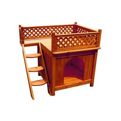 Room With a View Wooden Outdoor Pet House: MPS002