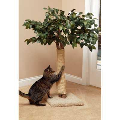 Lifelike Cat Scratching Tree
