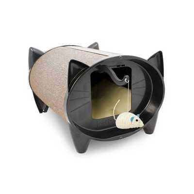 SkratchKabin Indoor Cat Scratching Bed - Oatmeal